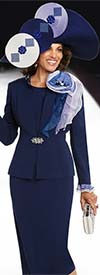 Donna Vinci 11679 Womens Church Suit With Shoulder Adornment & Ruffle Cuffs