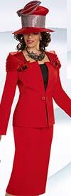 Donna Vinci 11712 Womens Church Suit Off The Shoulder Portait Collar