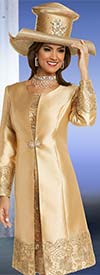 Clearance Donna Vinci 11720 Lace Trimmed Dress & Jacket Set With Silk Look Fabric