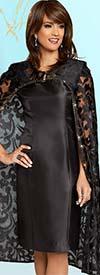 Donna Vinci 5611 Novelty Lace Jacket & Dress Set With Rhinestone Trims
