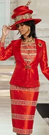 Donna Vinci 11811 Womens Church Suit With Guipure Lace Accents
