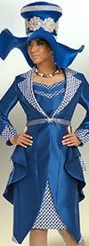 Donna Vinci 5637 Crisscross Pattern Dress And Jacket Set With Cascading Layer Design