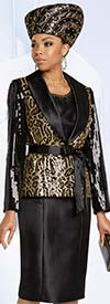 Donna Vinci 5642 Animal Print Dress & Jacket Set With Sequins