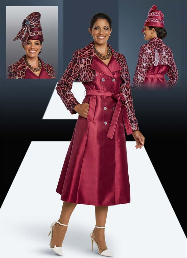 Donna Vinci 5643 Animal Printed Silk Look Dress With Gold Buttons And Belt