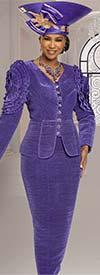 Donna Vinci 11880 Ladies Pleated Bridal Satin Fabric Chuch Suit With Shoulder Details