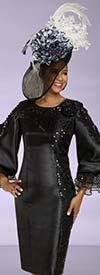 Donna Vinci 11888 Womens Sheath Dress With Mesh & Sequin Detail