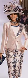 Donna Vinci 11743 Three Piee Skirt Suit With Floral Applique Design
