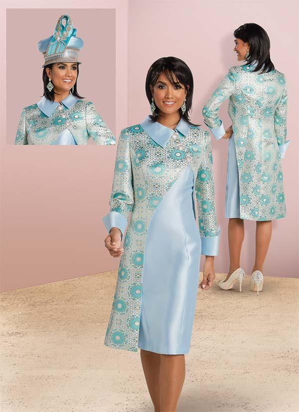 Donna Vinci 11760 Dress Set With Printed Asymmetric Design Jacket