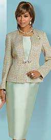 Donna Vinci 5625 Womens Three Piece Skirt Suit