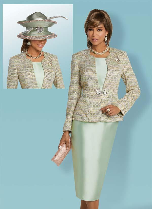 Donna Vinci 5625 Womens Three Piece Skirt Suit