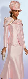 Donna Vinci 11834 Flared Skirt Suit In Silk Look Fabric With Multicolor Sequins & Rhinestone Embellished Portrait Collar Jacket