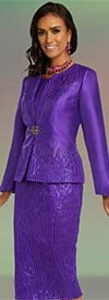Donna Vinci 5696 Silk Look Fabric Womens Suit With Elaborate Embroidery Design