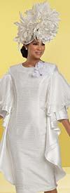 Donna Vinci 11914 - Ladies Church Dress Featuring Organza & Chiffon Layer Detail