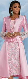 Donna Vinci 11929 - Two Piece Skirt Set In Silk Look Fabric With Organza Inset And Trims