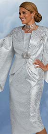 Donna Vinci 5719 - Womens Church Suit With Split Sleeve Jacket In Textured Look Novelty Fabric