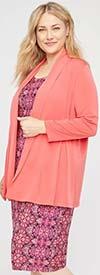 Catherines T80437WA-Peach Multi -  PlusSize Maxi Dress In Printed Pattern Design