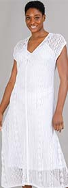 Colleen Lopez 648175 - Womens Knit Overlay Style Slip Dress