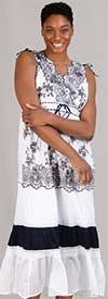 Etc. 2739 Womens Embroidered Sleeveless Dress