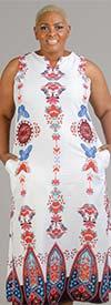 Luxe Moda 109 - Womens Butterfly Print Design Sleeveless Maxi Dress