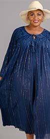 Sand & Spirit 20120068 - Womens Longsleeve Embroidered Maxi Dress