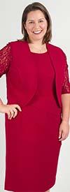 Maya-Brooke-27153 Womens Dress And Lace Sleeve Jacket Set