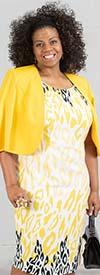 Maya-Brooke-28107 Two Piece Solid Color Jacket And Animal Print Dress Set