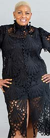 N By Nancy A91015 - Womens Lace Overlay Style Dress