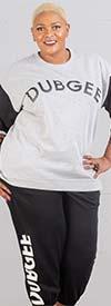Dubgee 6003-EX -  Womens Color Block Sleeve Sweatshirt With Logo