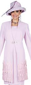 Elite Champagne 5357 Crepe De Chine Fabric Dress With Petal Applique Adorned Long Jacket