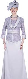 Elite Champagne 5360 Crepe Satin Sequin Lace Fabric Dress Suit With Shawl Lapel Jacket