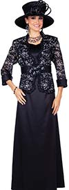 Elite Champagne 5359 Twill Satin Fabric Dress Suit With Special Lace Jacket