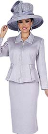 Elite Champagne 5154 Exclusive Knit Fabric Womens Skirt Suit With Zipper Front Jacket