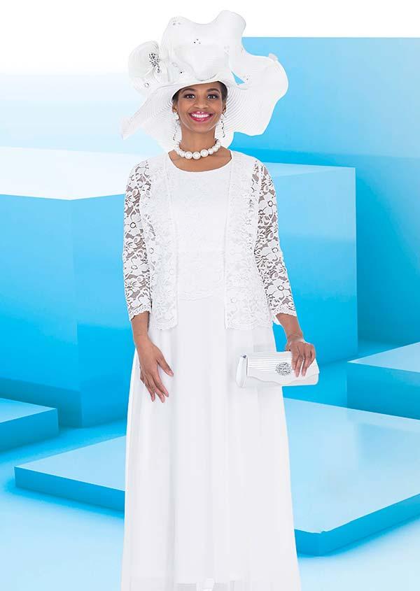 Elite Champagne 5263 Crepe Chiffon Fabric Dress With Novelty Lace Jacket