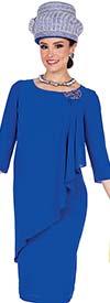Elite Champagne 5370 Crepe De Chine Fabric Asymmetric Layer Style Dress