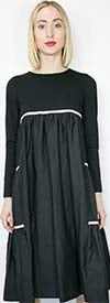 N By Nancy W8523 - Longsleeve Womens Striped Dress
