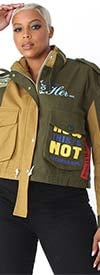 For Her 81804 Womens Mixed Media Design Jacket