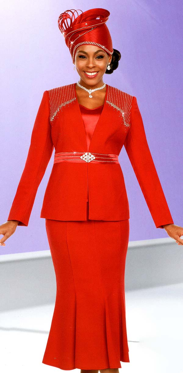 Womens Church Suits By Fifth Sunday 52870 Red Spring