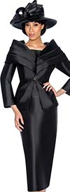 GMI G6982-Black - Church Suit With Layered Off The Shoulder Portrait Collar