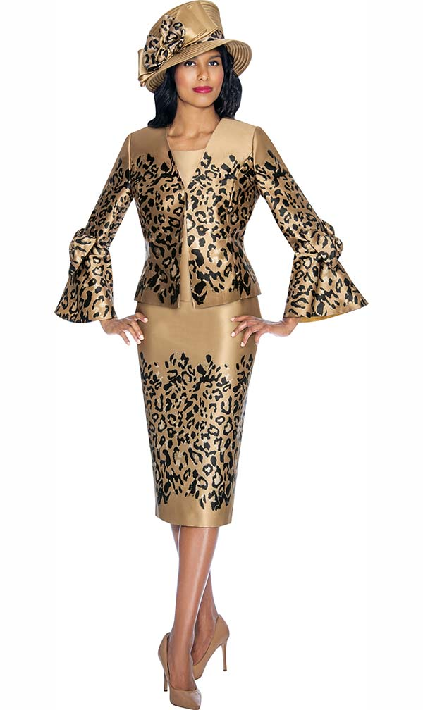 GMI G7053 - Skirt Suit With Detailed Animal Print