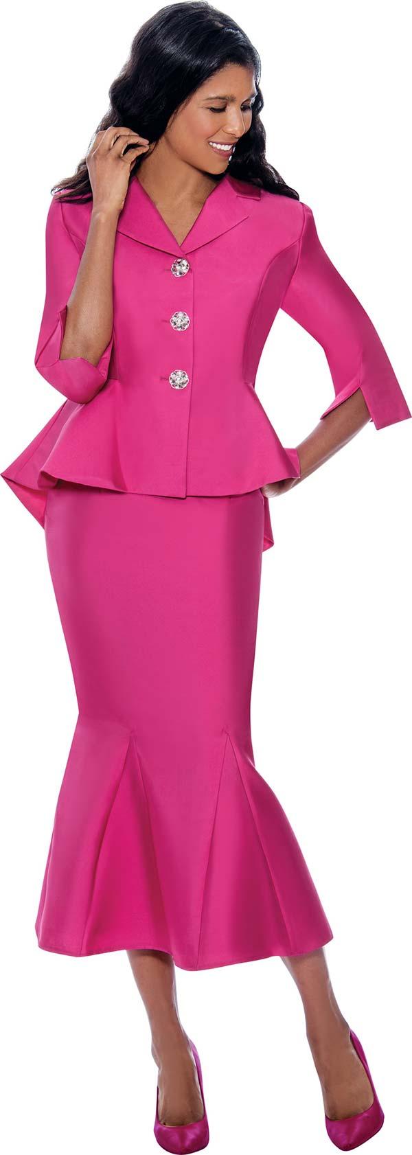 GMI G8342 - Womens Suit With Notch Lapel Peplum Jacket And Godet Skirt