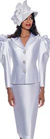 GMI G8702 - Ladies Church Suit With Leg Of Mutton Sleeve Style Notch Lapel Jacket
