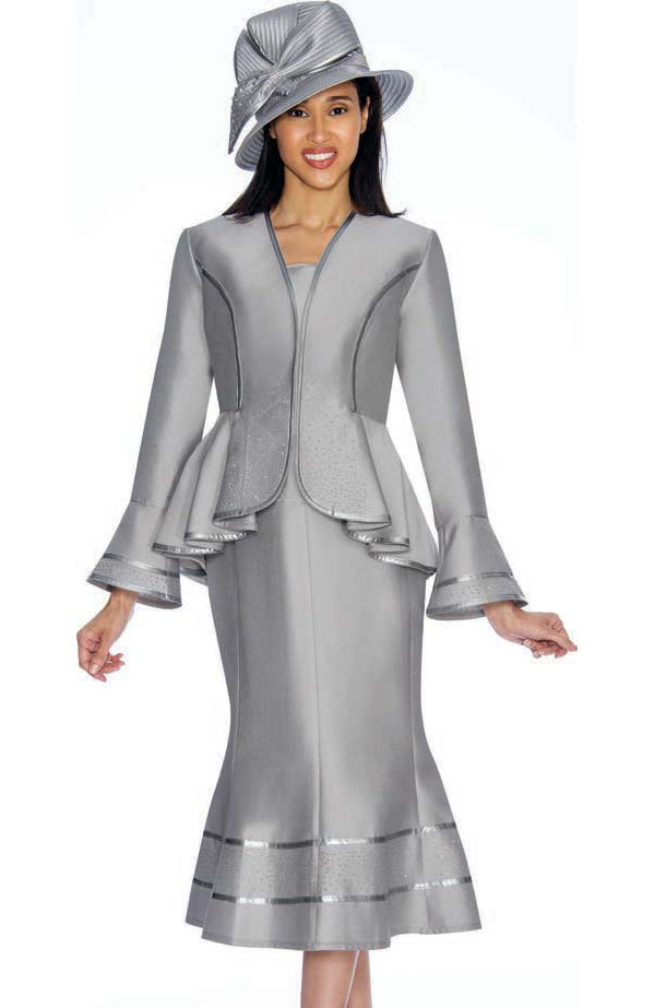 Gmi G7023 Silver Womens Church Suits Spring 2019