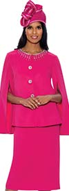 GMI G8452 - Ladies Church Suit With Embellished Neckline And Split Sleeve Jacket