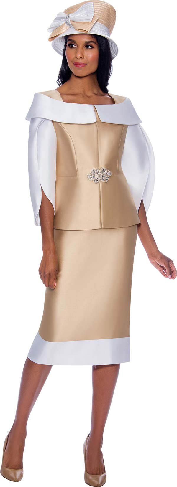 GMI G8492 - Ladies Church Suit With Portrait Style Collar And Split Sleeve Jacket