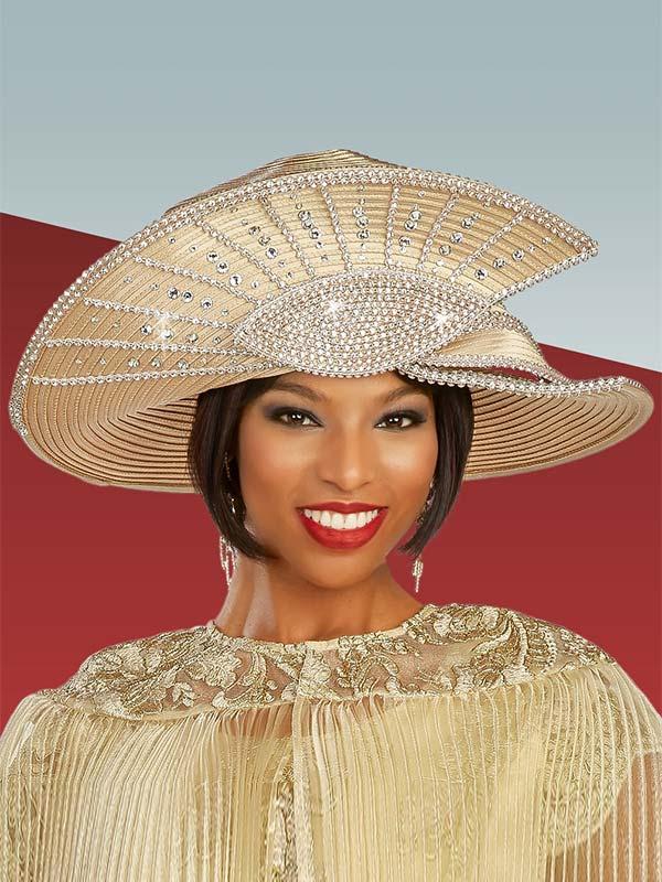 Ben Marc 48320H - Rhinestone Embellished Womens Church Hat