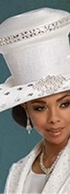Donna Vinci 11794H Womens Wide Brim Multi-Size Rhinestone Embellished Hat