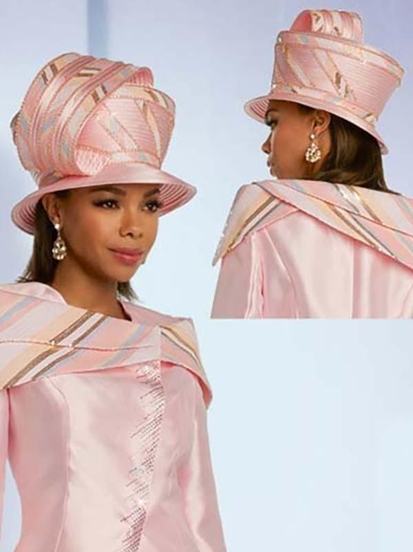 Donna Vinci 11834H Ladies Pink Church Hat