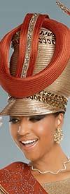 Donna Vinci 13274H Embellished Womens Hat With Multi-Size Rhinestone Design