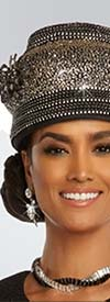 Donna Vinci 13286H Womens Church Hat Crown Encrusted With Rhinestones