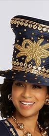 Donna Vinci 13293H Womens Formal Church Hat Adorned With Rhinestones